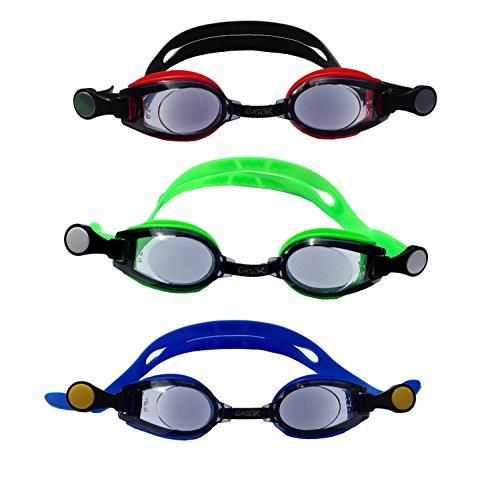 Optische Schwimmbrille, Korrekturglas je Auge sowie Brillenfarbe frei wählbar