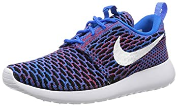 Nike Womens Roshe ONE Flyknit Casual Sneakers Photo Blue White RED 704927 404