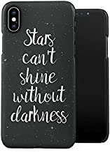 Stars Can't Shine Without Darkness in Space Plastic Phone Snap On Back Case Cover Shell Compatible with iPhone X, iPhone Xs