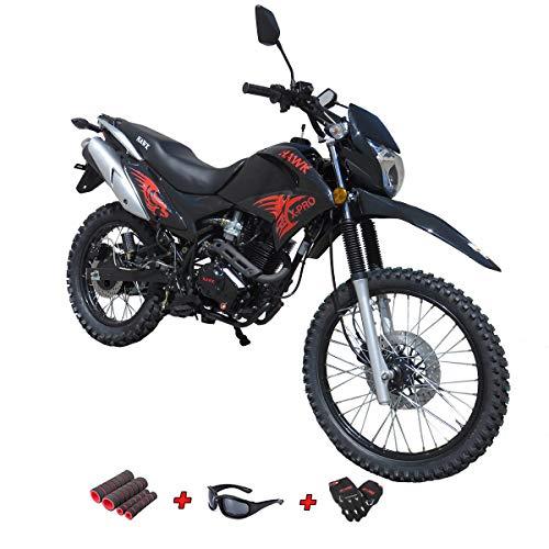 X-Pro 250 Dirt Bike Motorcycle Bike Hawk 250 Dirt Bike Enduro Street Bike Motorcycle Bike,Black
