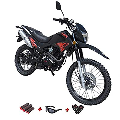 X-Pro Hawk 250 Dirt Bike Motorcycle Bike Dirt Bike Enduro Street Bike Motorcycle Bike with Gloves, Goggle and Handgrip,Black by Lifan
