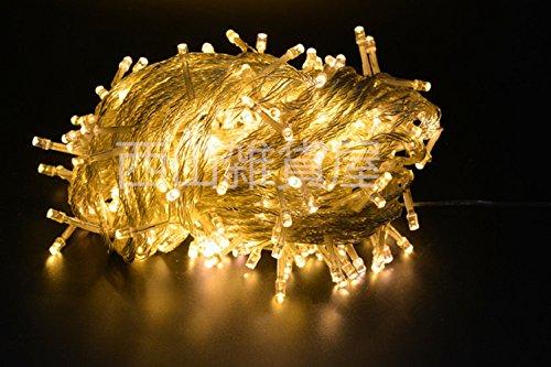 【ノーブランド品】イルミネーションLEDライト カラー:シャンパンゴールド【全長8M】LED100灯 点灯8パターン・コントローラ付・最大10個(最長80m)まで連結可能