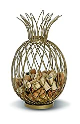 pineapple decorative wine cork holder gift for wine lovers