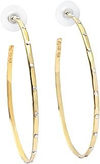 Willow House Jewelry Designed by Sara Blaine Women's Ionia: Brass Hoop Earrings