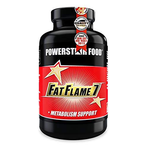FAT FLAME 7 POWERSTAR FOOD | SCHNELL & DIREKT | Einnahme zu deinem FATBURNING-TRAININGS und DEFINITIONSPHASE und Stoffwechselschieflage | 150 Kapseln hochdosiert | Made in Germany