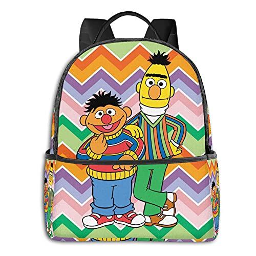 Bert And Ernie - Mochila para niños y niñas, aligeramiento escolar, multiusos, bolsa de hombro para natación, viajes