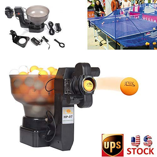 Buy Discount KANING Table Tennis Machine, 4-40M/S 7 Angle Setting 2 Wheel Drive Automatic Table Tenn...