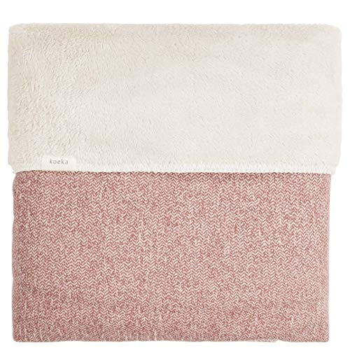 Koeka Plaid/Decke Vigo Old Pink/Pebble 110x170
