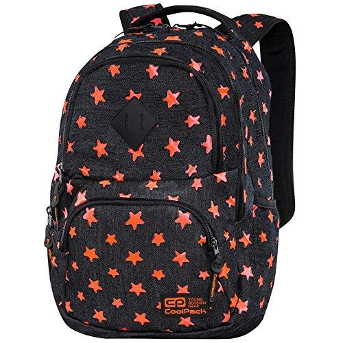 Coolpack Star Jeans Rugzak, vrijetijdsrugzak, dagrugzak met sterren, reis-rugzak, notebook, laptopvak, dames, meisjes, vrouwen, kinderen