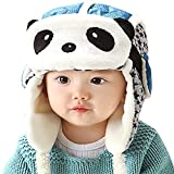 Unisex Baby Winter Hat,Panda Hats Masks 2 in 1 Function Winter Crash Helmet (Blue)