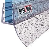 STEIGNER Joint de douche pour paroi en verre, 200cm, vitre 6/7/ 8 mm, joint d'étanchéité PVC droit pour les cabines de douche...
