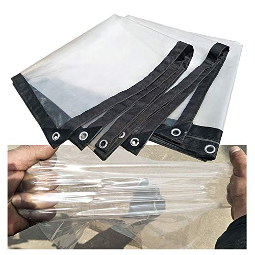 WXQIANG Veranda Window Tarpaulin Waterproof with Grommets - Home & Garde Clear Tarp Sheet Cover for Pool/Trucks/Roof, 120g /m² (Size : 2x8m)