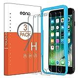 Eono Essentials Protection Ecran Compatible iPhone 6/6s/7/8 Verre Trempé avec Outil d'Installation Solide Anti Rayures et Choc sans Bulles d'air [4.7 Pouces, Lot de 3]