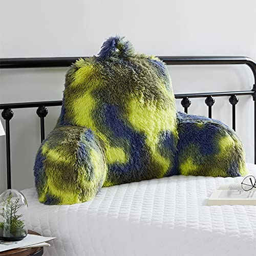 JILLCHE BED Fur Reading Pillow W/ Unique Camo Design, Fluffy Cozy Bed Rest Pillow Lounge Cushion with Arms for Adults & Kids, Back Pillow for Sitting in Bed/Couch/Chair, Husband Pillow, Ecstatic Gift