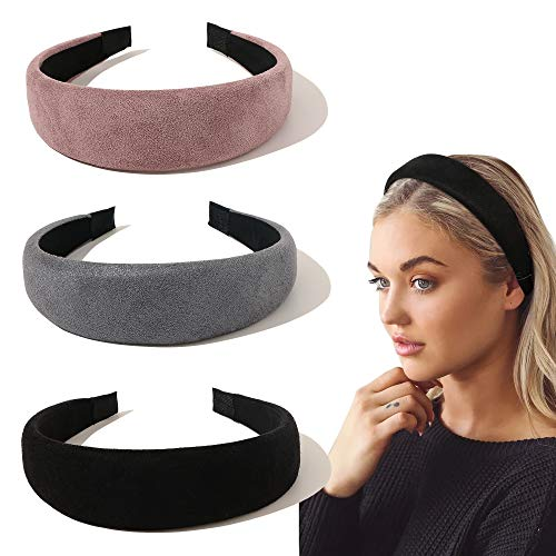 Ivyu Headbands for Women Head Bands - Fashion Womens Headband Diademas Para Mujer De Moda Hair Accessories Hairbands for Girls No Slip Cute Black Pink Gray Headband Gift for Women