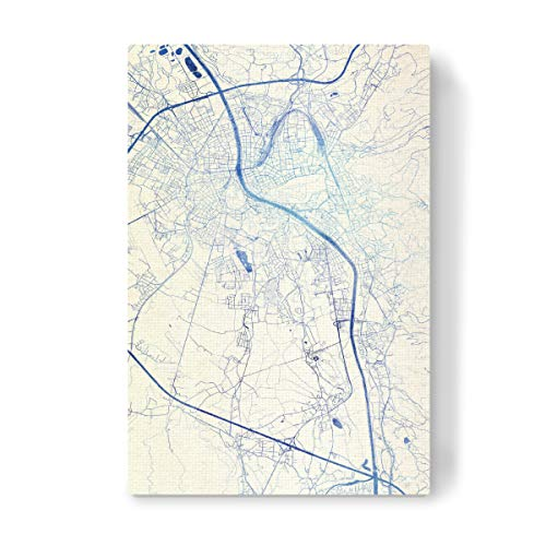 artboxONE Leinwand 30x20 cm Städte Salzburg O?sterreich Blue Infusion Map III von Makadi Atatu