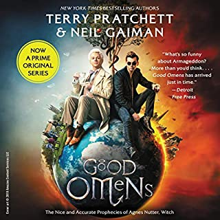 Good Omens                   Written by:                                                                                                                                 Neil Gaiman,                                                                                        Terry Pratchett                               Narrated by:                                                                                                                                 Martin Jarvis                      Length: 12 hrs and 32 mins     296 ratings     Overall 4.6