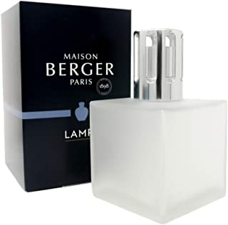 Lampe Berger Model Cube - White Frosted - Home Fragrance Diffuser - 3x3x5 inches