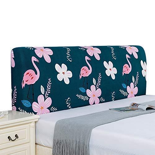 Zoey's store Housse élastique pour tête de lit - Style nordique - Têtes de lit - Housse de protection en bois et cuir - Courbée - 9,2 x 0,8 m