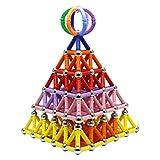 Collun Blocs de Construction magnétiques - Ensemble de Construction SETM 320pcs Jouets de Puzzle 3D et Jouets éducatifs à empiler pour Adultes et Tout-Petits (Enfants de Plus de 6 Ans)