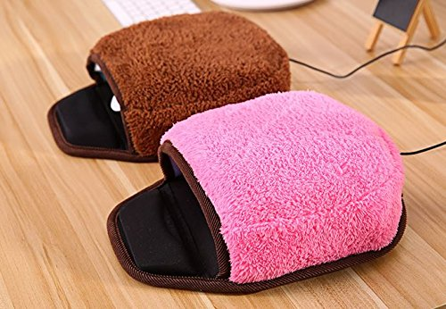 Fashionable Beauty Warm Hand Underpower USB Heated Mouse Pad Winter Plush Thickening USB Heating Mouse Mat with Wristguard for Office and Home