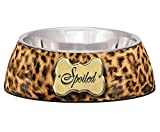 Loving Pets Spoiled Leopard Milano Bowl for Dogs and Cats, Small