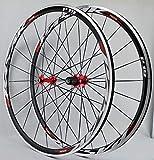 MZPWJD Ciclismo Ruote Cerchio 700C Coppia Ruote Bici da Corsa Superleggere Ruota di Bicicletta Freno C/V 7-11...