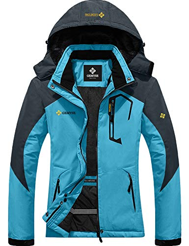 GEMYSE Women's Mountain Waterproof Ski Snow Jacket Winter Windproof Rain Jacket...