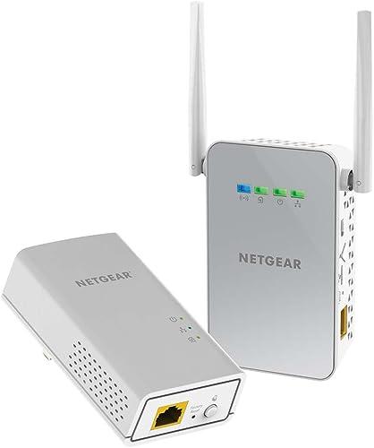 NETGEAR Powerline WiFi 1000 Mbps, 1x PL1000 & 1x PLW1000 Access Point (PLW1000-100AUS),White