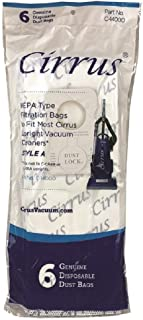 Genuine Cirrus Style A Upright Hepa Bags - 6 Pack