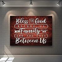 帆布の絵 家の装飾プリント絵画HDレター写真家族私たちのほかに壁アートHDモジュラーキャンバス暖かい言葉ポスター部屋用額装なし 50x70cm