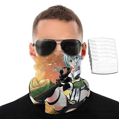 IUBBKI Sinon Rifle Face Cover Transpirable Bandana Cuello Polaina Balaclava Bufanda para protección solar UV con 6 filtros