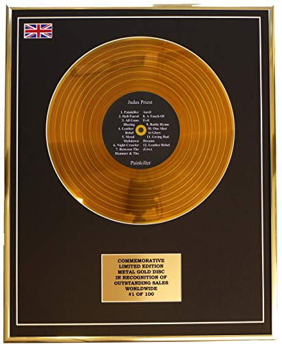 Everythingcollectible Judas Priest - Painkiller/Metall Gold Disc Display Gedenk Limited Edition