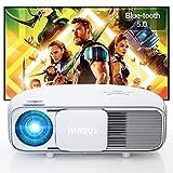"""Vidéoprojecteur 7500 Lumen Bluetooth, Natif 1920x1080P Full HD, WiMiU S4 LCD Rétroprojecteur, pour Home Cinéma 300"""", LED Projecteur, Supporté 4K, pour Fire TV Stick, PS4, PC, iPhone, Tablette, DVD,"""