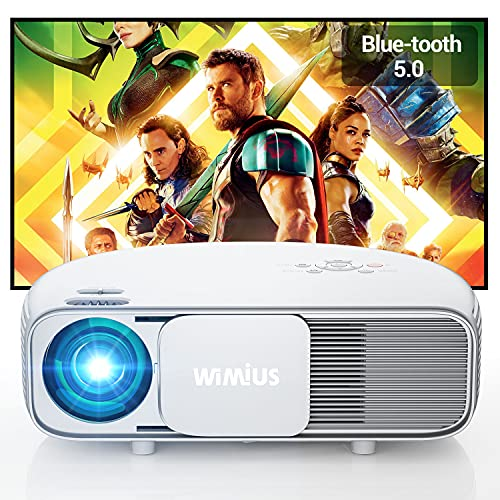 Vidéoprojecteur 7500 Lumen Bluetooth, Natif 1920x1080P Full HD, WiMiU S4 LCD Rétroprojecteur, pour...