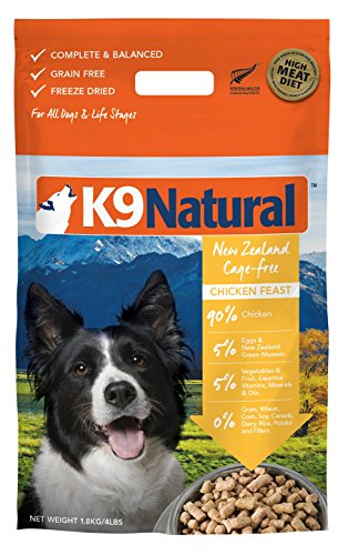K9 Natural Grain-Free Freeze Dried Dog Food, Chicken 4lb