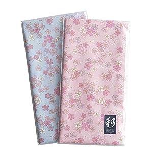 日本製 和柄 和風 ハンカチ 綿100% 約53cm×約53cm 和風柄 (桜 さくら 2枚セット)