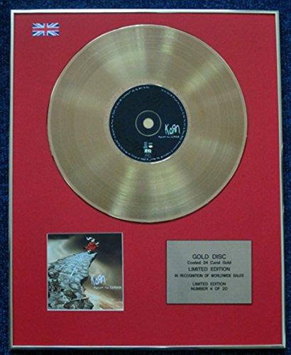Century Presentations Korn CD 24 Karat Gold Beschichtete LP Disc - Follow The Leader