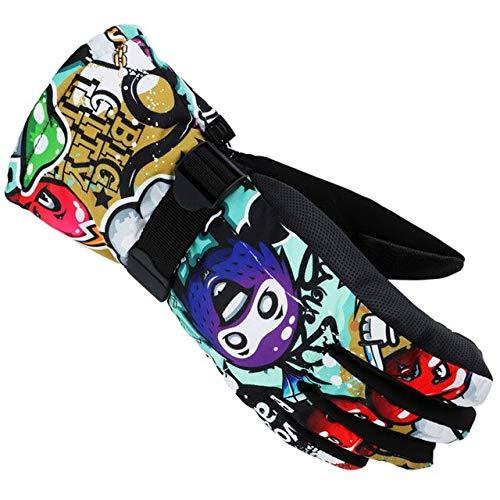ZXQADRVW Ski Gloves Ski GlovesGuantes cálidos de Invierno Niños Guantes de esquí...