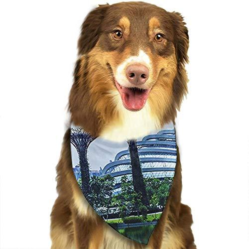 Bandana para Perro Gardens by Bay Singapur, Pañuelos para Perro, Reversibles, Ajustables, Triangulares, Bufandas para Mascotas y Gatos, Regalos Cumpleanos