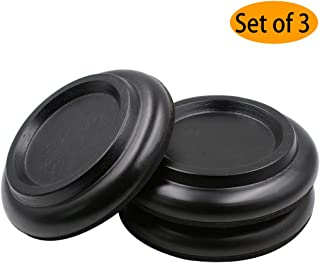 Piano Caster Cups Grand Piano Caster Cups Black Piano Leg Hardwood Cups Pads for Grand Piano (Set of 3)