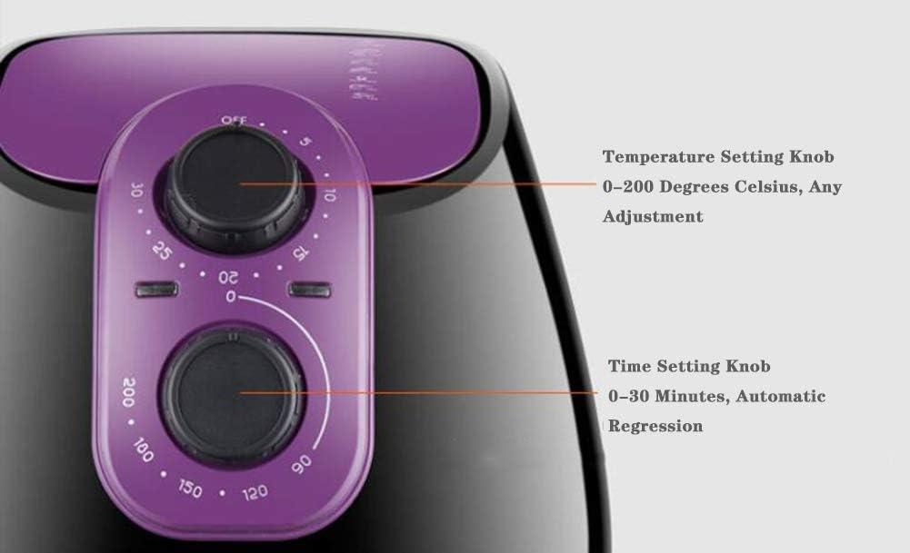 L.BAN Écran Tactile Air Fryer avec 8 préréglages de Cuisson et Livre de Recettes Airfryer -2,6 litres de Grande capacité, Rouge Red