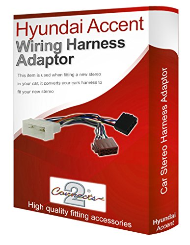Hyundai Accent Radio CD stéréo câblage Harnais Adaptateur ISO convertisseur