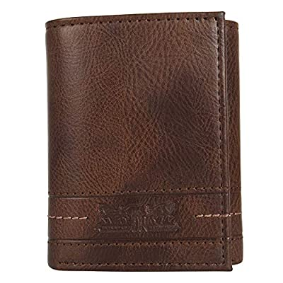 Levi's Men's RFID Trifold Wallet-Sleek and Slim Includes ID Window and Credit Card Holder, Turlock Tan, One Size