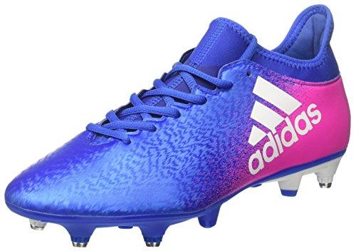 adidas X 16.3 SG, Botas de fútbol para Hombre, Azul (Blue/FTWR White/Shock Pink), 42 EU