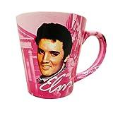 Elvis Presley The King Graceland Pink w/Guitars Ceramic Latte Coffee Mug by Midsouth Products