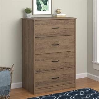 Mainstays 4-Drawer Dresser, Rustic Oak