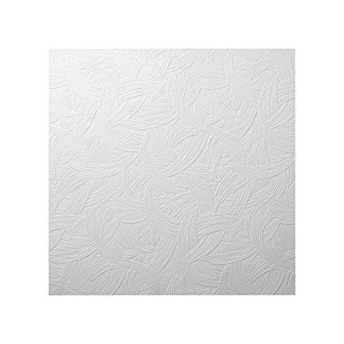 Decosa Dalle de plafond AP105 PRIX SPECIAL LOT de 5 sachets = 10 m2 Zagreb blanc 50 x 50 cm