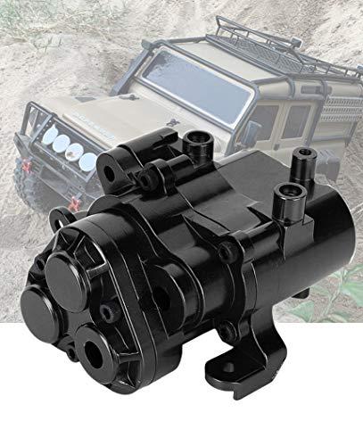 RZXYL Aluminum Alloy Transmission Gearbox Housing for 1/10 Traxxas TRX4 RC Crawler Car (Black)