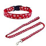 Petsoigné Pet Leash Collar Set Dog Collars and Leads for Winter Season Christmas New Year Festival...